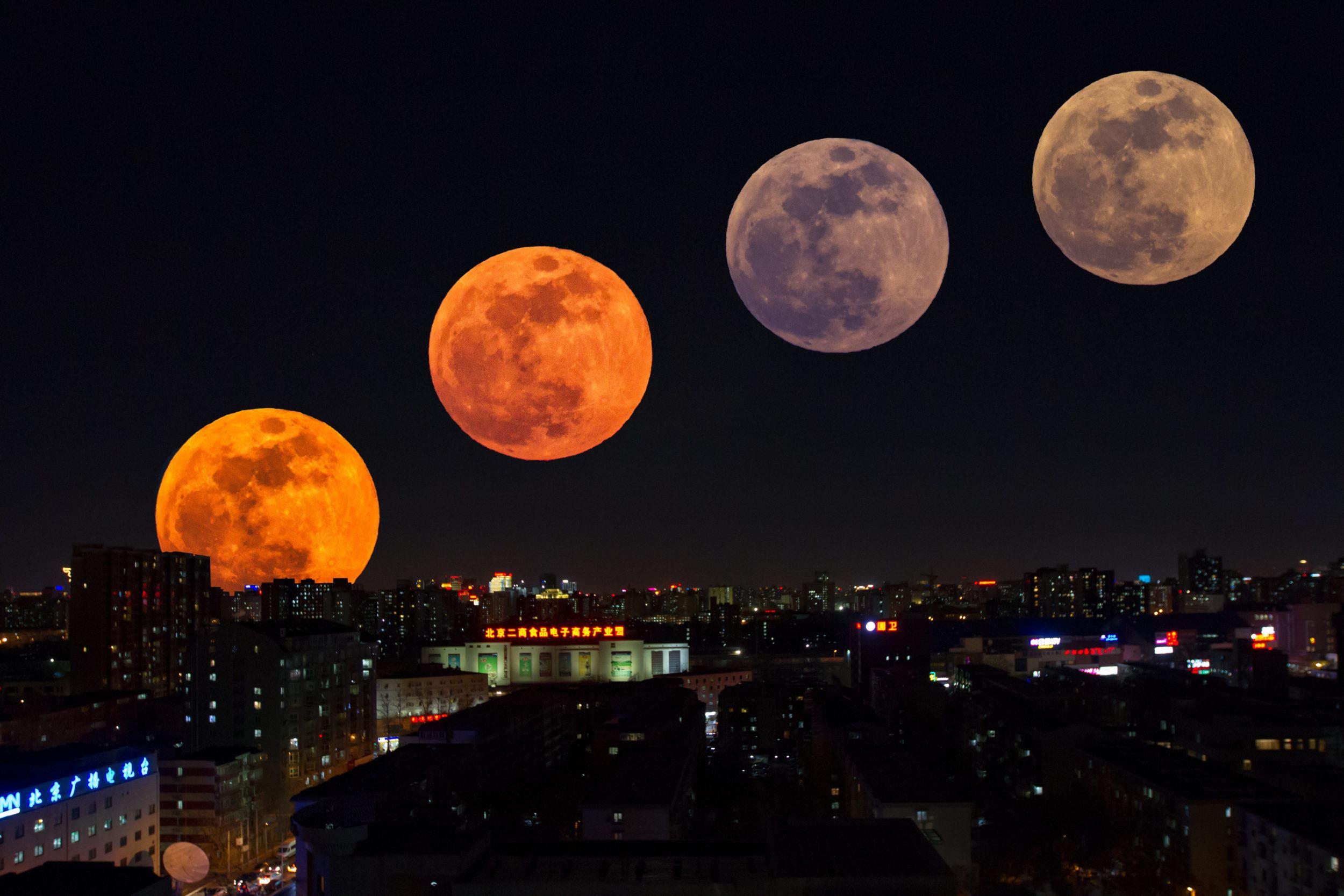 Полная луна сегодня фото