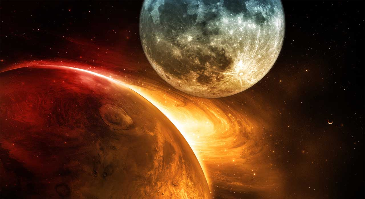 соединения луна Юпитер