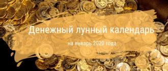 Денежный лунный календарь на январь 2020