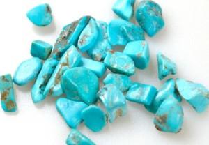 Голубые камушки