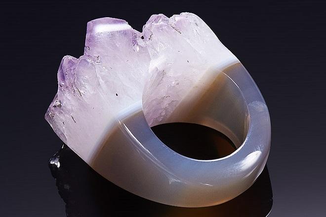 Кольцо из бразильского агата