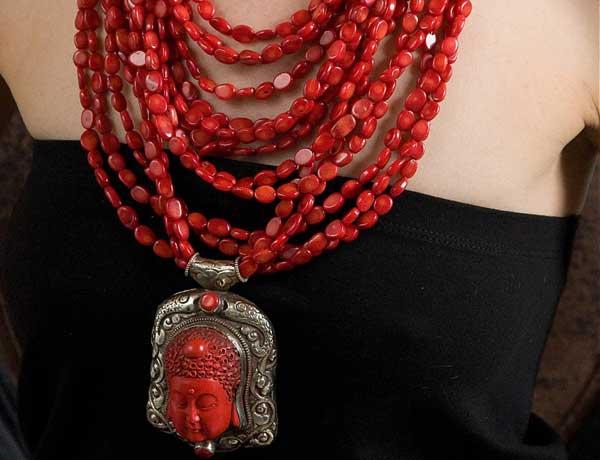 Ожерелье с Буддой