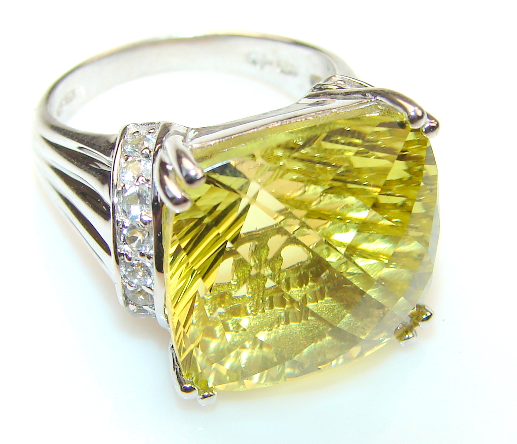 кольцо с цитрином 1