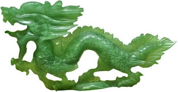 Нефритовая фигурка - дракон