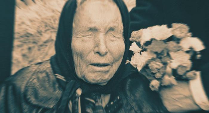 Ванга с цветами в возрасте